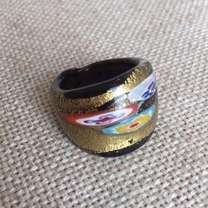 Millefiori Merano Glass Ring Size 7 1/2